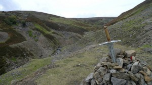 Memorial Sword on our walk from gunnerside