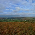 Blue skies and moorland