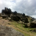 At the Wainstones for lunch
