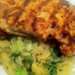 Hairy Dieters harisa chicken and bulgar wheat salad