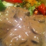 Hairy dieters steak with mushroom sauce