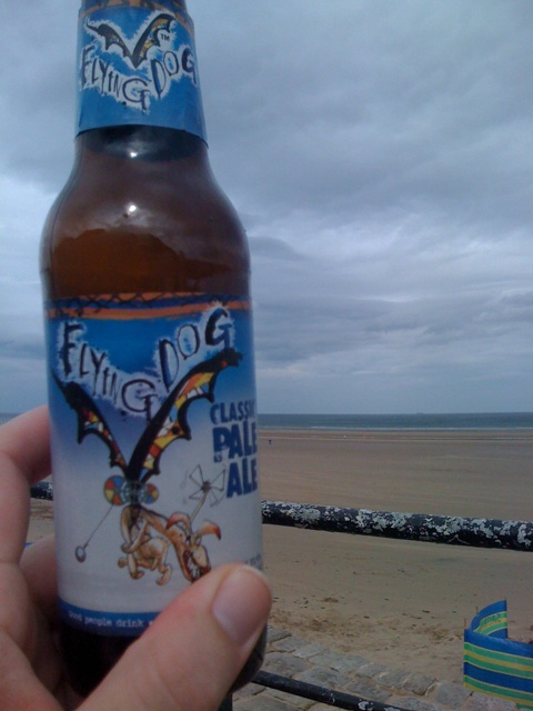 Flying dog beer and the beach