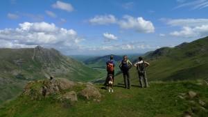 Descending Bowfell