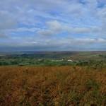 Blue skies and moorland