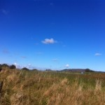 The blue sky towards Roseberry Topping